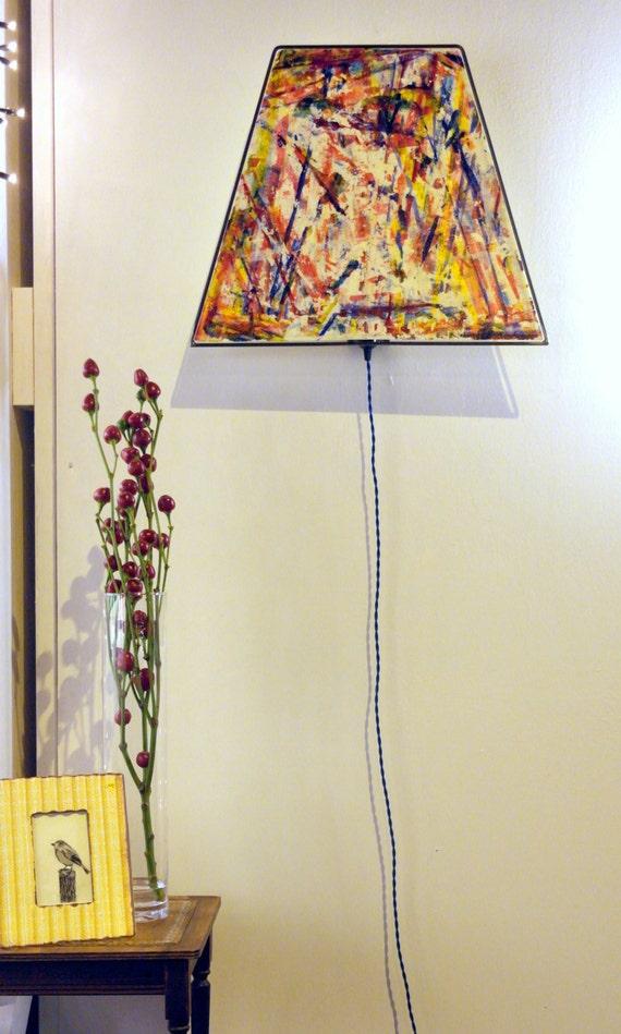 Special handmade unique lamp eye catcher soft yellow - Unique handmade lamps ...