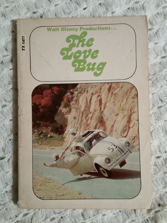 THE LOVE BUG - 1973 | Walt Disney Productions / Scholastic | Collectible Paperback Book - 1968 Movie Tie-In | Herbie the Volkswagen