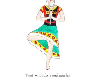 Frida Kahlo print yoga, Frida Kahlo art, Frida Kahlo Does Yoga, Frida Kahlo home decor, Frida Kahlo quote, Frida Kahlo