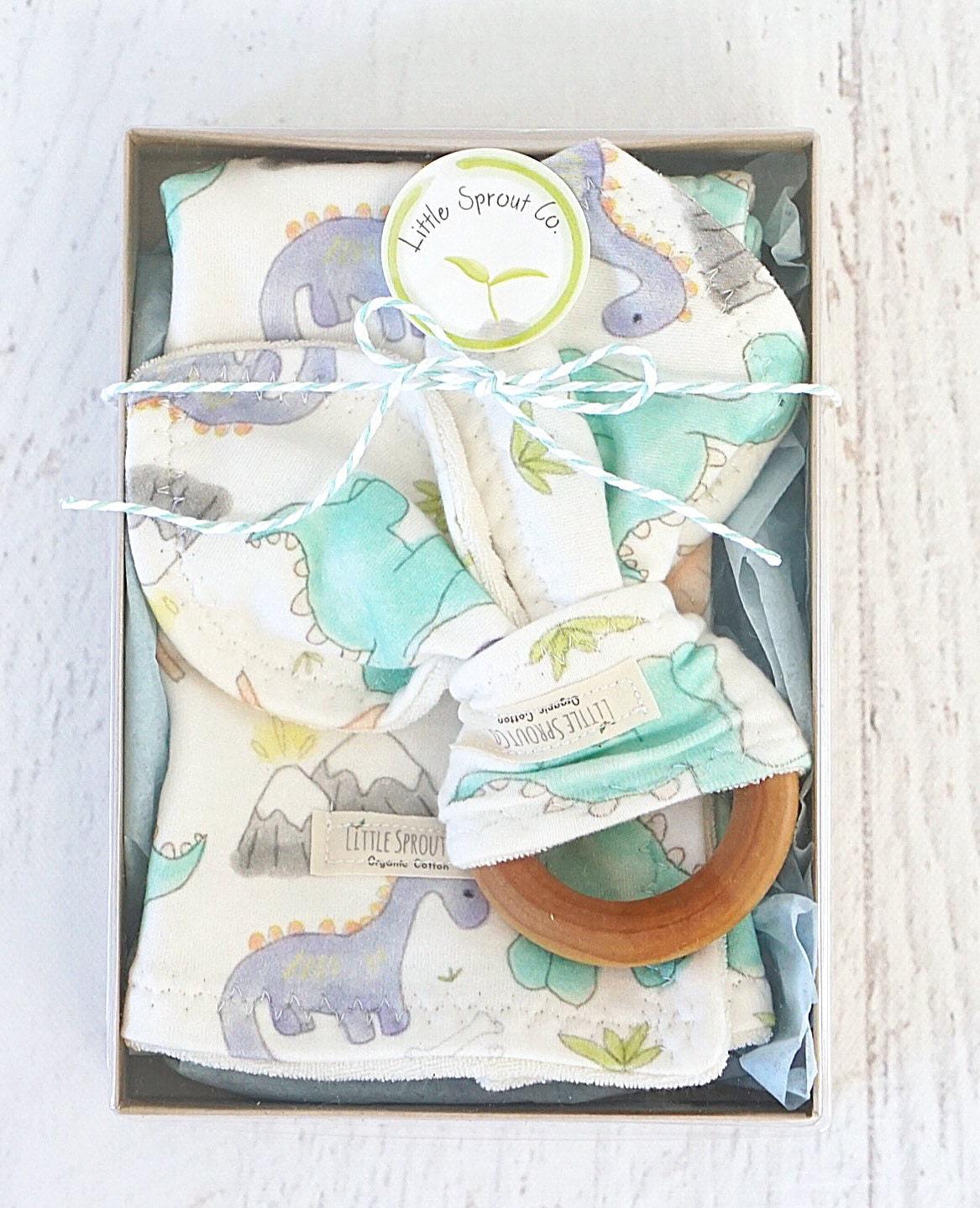 Baby Gift Organic : Baby boy gift set organic handmade compliant teething