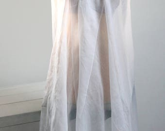 Wedding veil in white tulle cape wedding, wedding headpiece, accessory ceremony, 147 x 137 cm MAR170905