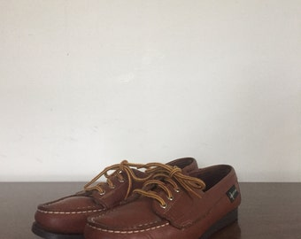 Vintage 8 Made in Maine Eastland Boat Shoes