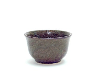Japanese Tea Cup | Sencha Type | 3oz | Dark Olive Color | Handmade
