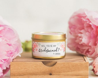 Will You Be my Bridesmaid.Bridesmaid Candle. Gifts for Girlfriend.Custom Bridesmaid Gift.Asking Bridesmaid gift.Gifts for Her.Gift under 20.