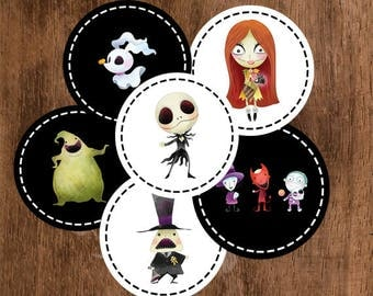 Table Confetti - The Nightmare Before Christmas Birthday Party - Instant Download - Print At Home - DIY - S0001