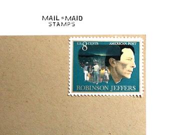 Robinson Jeffers || Set of 10 unused vintage stamps