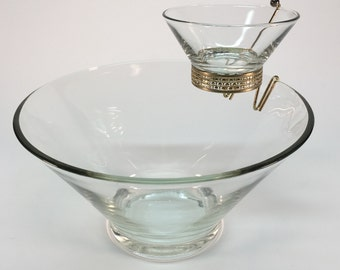 Vintage two tiered chip and dip
