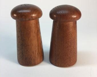 Danish teak salt and pepper shakers