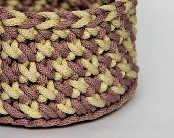 Storage basket, Crochet basket, Knit basket, Home storage, Craft storage, Crochet home decor, Crochet gift, Summer home decor, organizer