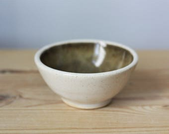 Small Brown Stoneware Bowl – Handmade Pottery Bowl – Small Pottery Dish – Small Stoneware Bowl – Brown Dipping Bowl