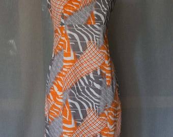 Fancy Dress Orange/Grey
