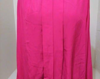 Vintage Pink Blouse, Vintage Secretary Blouse, Vintage Office Wear, 80s Clothing,