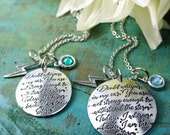 I am the Storm Women cancer jewelry Confidence necklace I am not afraid of storms prayer survivor cancer warrior meaningful jewelry strength