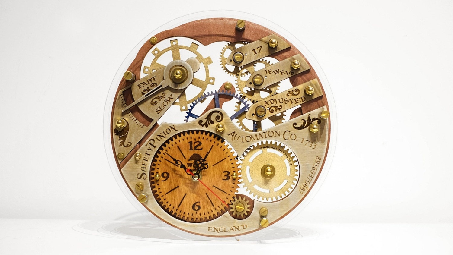 Skeleton 1733 Transparent Steampunk Wall Clock Unique Wall