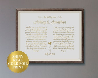 wedding vows caligraphy wedding vows art wedding vow frame not included wedding vows sign wedding vow keepsake anniversary gift