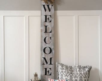 Large Welcome Sign | Welcome Sign | Rustic Welcome Sign | Rustic Porch Sign | Porch Sign | Vertical Welcome Sign | Welcome | Front Door Sign