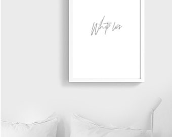 White Lies ... | Typography Printable Poster | Black and white  Digital file Instant Download | Minimalist Scandinavian decor | Gallery Wall