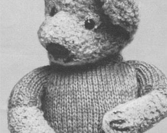 Teddy Bear Toy PDF Knitting Pattern . Instant Digital Download