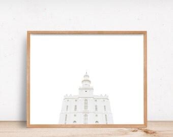 St. George Utah Temple White