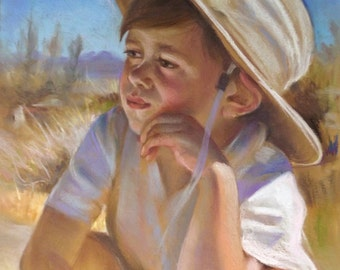 Portrait, Custom portrait, Custom children portrait, Pastel portrait, Pastel painting, Portrait gift