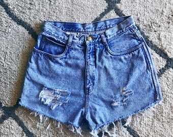 Acid Wash High Waisted Shorts