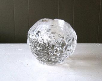 Vintage Kosta Boda Snowball Votive, Handmade in Sweden, Design Ann Wärff, Scandinavian Style, Ice Glass Candleholder, Nordic Design