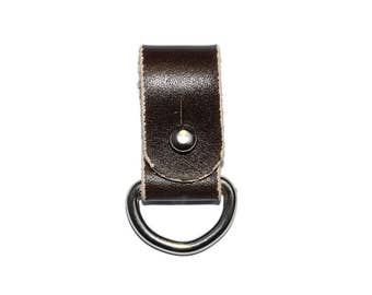 Brown Leather Cord Holder / Leather Headphone Holder, Leather Cable Organizer / Cord Organizer, Headphone Case, Earbud Holder