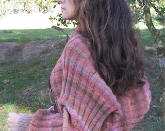 Ribbing stitch Shrug pattern/Bolero en punto elástico, cálido y confortable