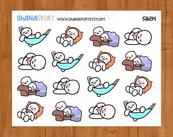 Lazy Day Planner Stickers - Snomi (S16134)