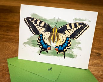 Butterfly Stationery  - Beautiful Butterfly Note Cards From Original Art