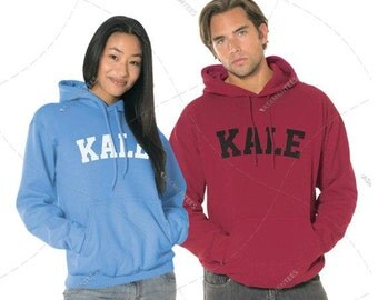 """Unisex - Premium Retail Fit """"Kale"""" 2017 Pullover Hoodie, Hooded Sweater (S,M, L, XL+) Fashion - Oversized? Order big! Hooded Sweater, Hoodie"""