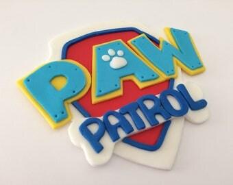 Paw Patrol Badge Fondant Cake Topper