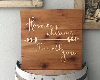 Home is wherever I am with you/ Pallet Sign