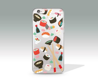 Sushi i Phone 7 Case Clear i Phone 7 Plus Case iPhone 7 Case iPhone 6 Case iPhone 6 Plus Case iPhone 5/ 5s/ SE Case Soft iPhone Case //333
