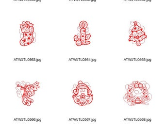 Ornamental-and-Decorative-REDWORK. ( 10 Machine Embroidery Designs from ATW )