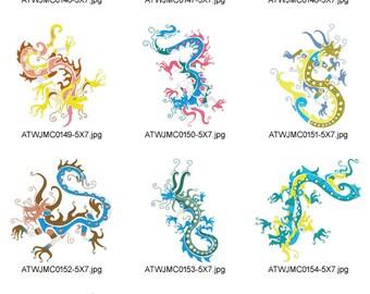 Native-Dragons-5x7 ( 10 Machine Embroidery Designs from ATW ) XYZ17B