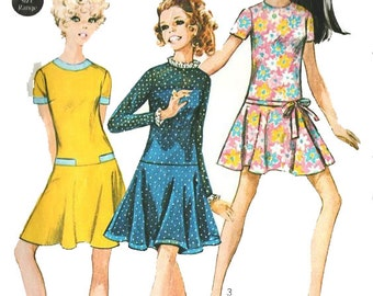 Simplicity 7733 Young Junior/Teens' Dress Vintage Paper Pattern 1960s Size 11/12 Bust 32