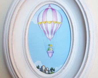 Balloon picture with frame