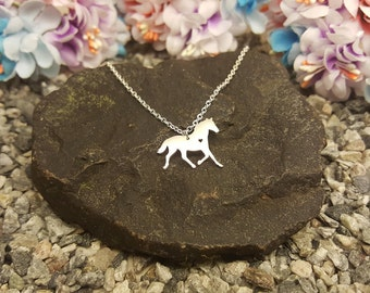 Horse necklace heart, for dainty jewelry, dainty small tiny, little dainty charm-dainty cute small-dainty necklace mini-dainty fine necklace