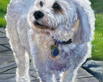 Custom Dog Portrait Custom Pet Portrait Painting Hand Painted Original Pet Painting Personalized Pet, Dog Portrait, Custom Dog, Pet Memorial