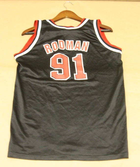 385a9b76 chic Chicago Bulls Jersey 91 Dennis Rodman VTG 90s by fourthplace ...