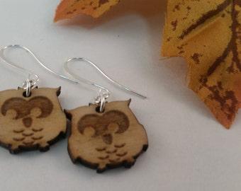 Dangle owl earrings