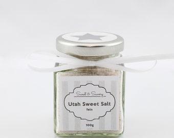 Utah sweet salt fine, 100 g, gourmet salt, Utah sweet salt, salt, ideal as a gift for grilling cooking for him and her, for the salt mill