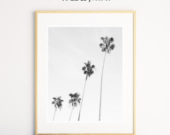 Palm Tree Wall Art, Black and White Prints, Tropical Wall Art, Palm Print, Beach Wall Art, Wall Art Prints, Home Decor Wall Art