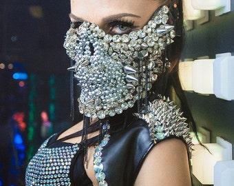 Skull Mask, Halloween Mask, Rave Mask, DJ Mask, Masquerade Mask, Rave Clothing, Skeleton Mask, Festival Mask, Dance Wear, Festival Wear