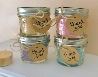 scented soy candles wedding shower favors bridal shower favors baby shower favors small quilted
