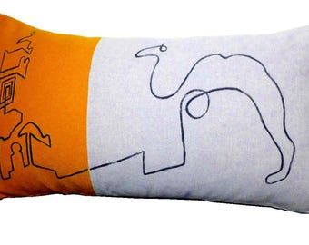 """Cushion cover  50x28 centimeters  """"Picasso and the Koutoubia"""""""