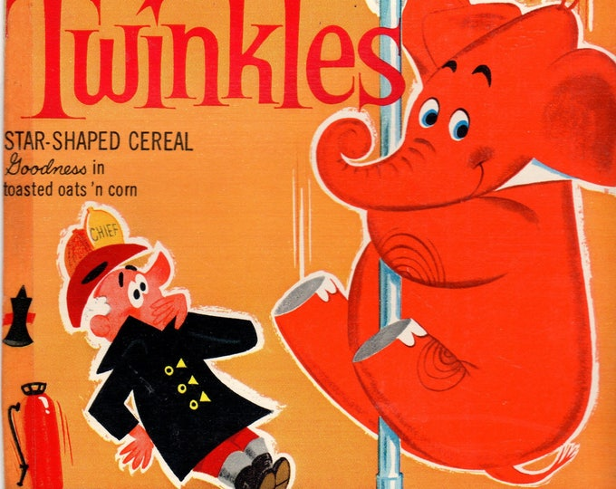 1960's Twinkles General Mills Cereal Box Book Twinkles and Firehouse NO. 99