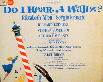 Do I Hear A Waltz? (Original Broadway Cast) Elizabeth Allen,  Sergio Franchi – 1965 ( LP, Album, Vinyl Record ) Broadway Musical