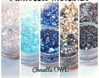 Glitter multi size - 7 grams - high quality - for hobby
